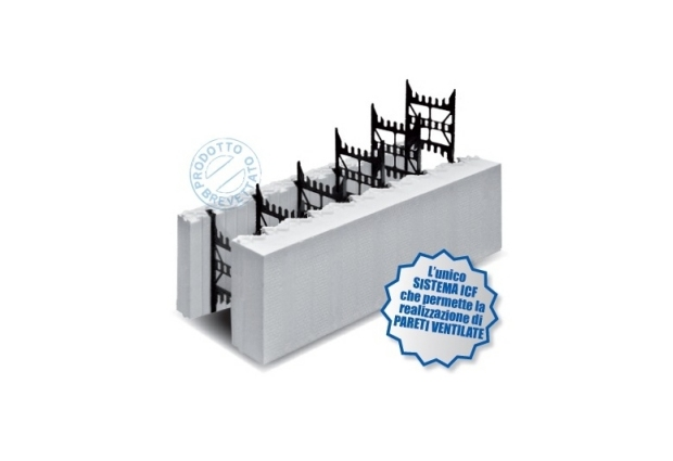 Integrated in a ventilated wall formwork system